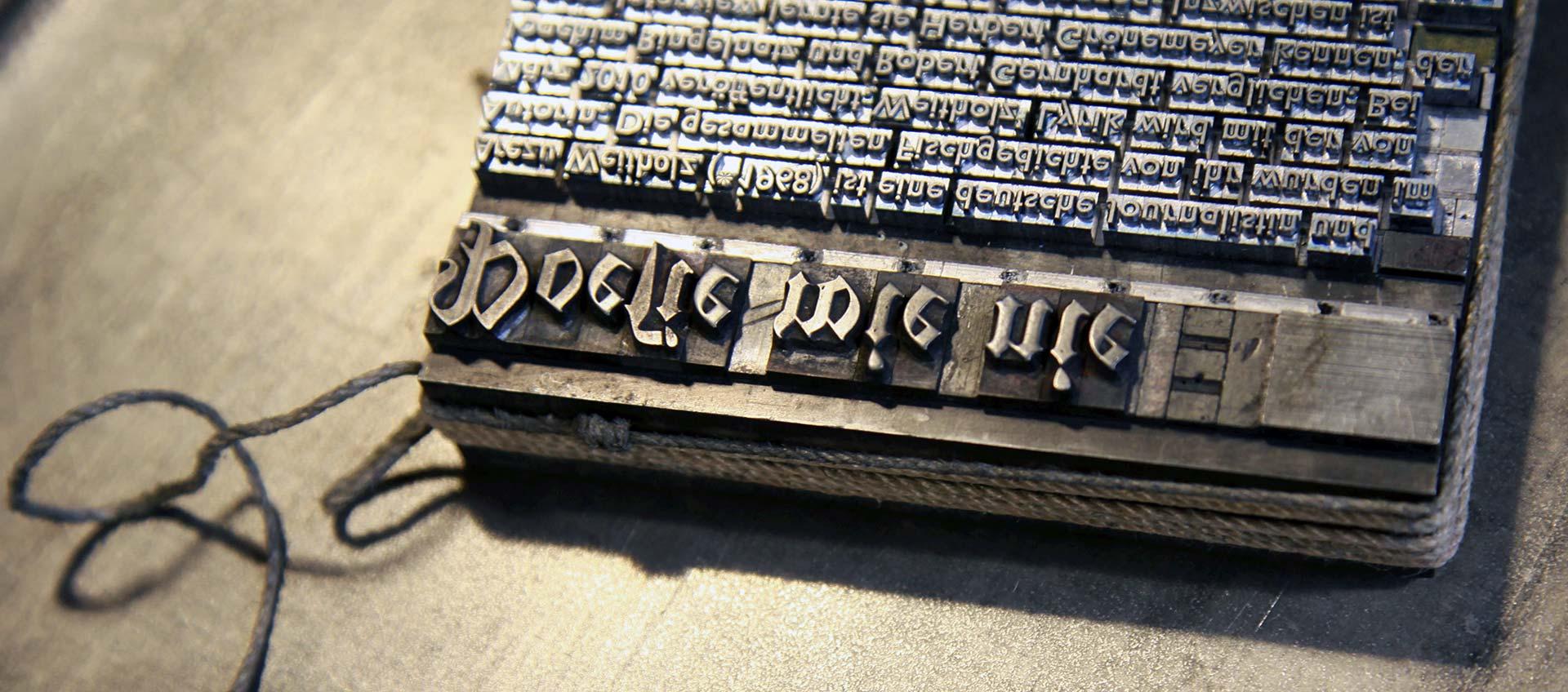 Poesie wie nie - Buchdruckkunst