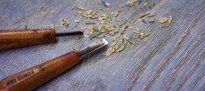 Holzmesser - Buchdruckkunst