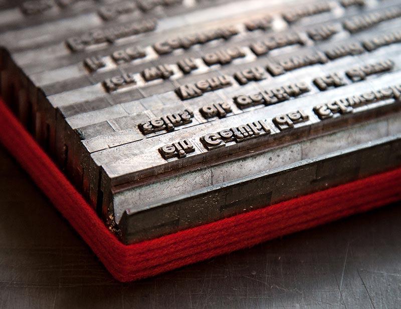 Paradies Linotypesatz - Buchdruckkunst
