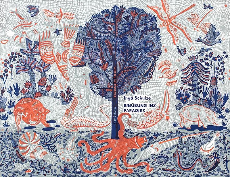 Paradies Schutzumschlag - Buchdruckkunst