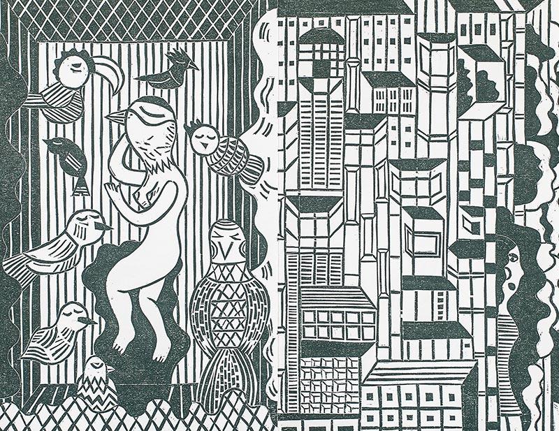 Paradies Vogelmensch - Buchdruckkunst